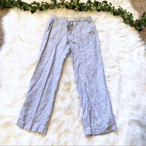 Banana Republic Blue Linen Trouser Pants